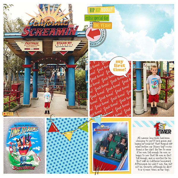 Disney California Screaming digital project life page using Project Mouse (Celebrate) by Britt-ish Designs and Sahlin Studio