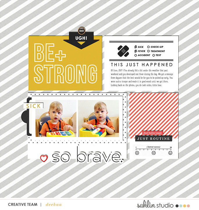 digital scrapbooking page using Ouch (Kit) by Sahlin Studio