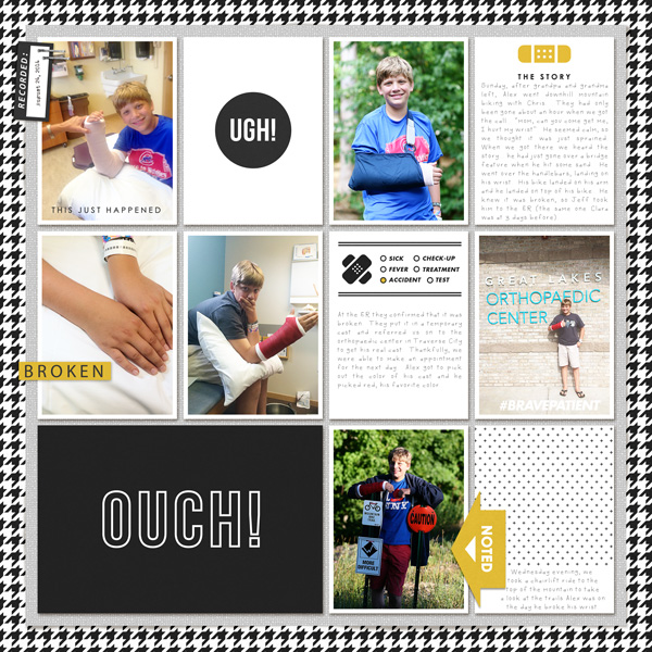Pocket scrapbooking using Ouch (Kit) by Sahlin Studio