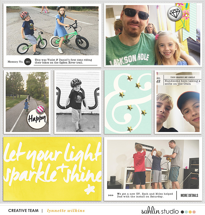 project life digital scrapbooking layout created by lynnette featuring Photo Journal Templates by Sahlin Studio