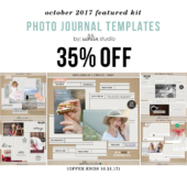October Featured Product: Photo Journal Templates by Sahlin Studio