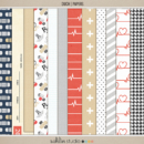 Ouch (Papers) by Sahlin Studio - Perfect for your Project Life or traditional or digital scrapbooking layouts for Doctors Visits, Surgery, Sick Days, Cancer and many more OUCH moments!!