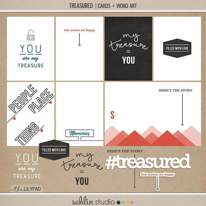 Treasured | Journal Cards + Word Art - Perfect for your Project Life or traditional or digital albums!!