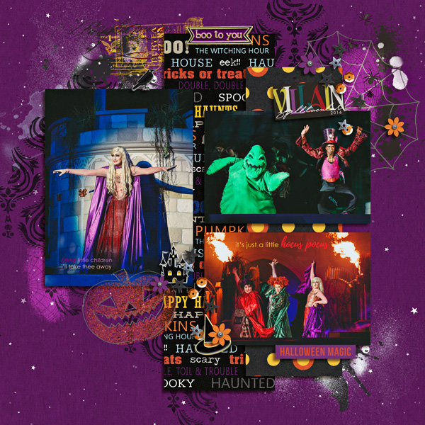 Disney Halloween Villians Digital scrapbooking page using Project Mouse (Halloween): Artsy & Pins by Britt-ish Designs and Sahlin Studio