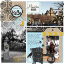 Digital project life scrapbooking page using Project Mouse (Halloween): Artsy & Pins by Britt-ish Designs and Sahlin Studio
