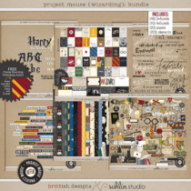 Project Mouse (Wizarding): BUNDLE by Britt-ish Designs and Sahlin Studio - Perfect for your Universal Studios or Harry Potter Wizarding World vacation digital scrapbooking layouts or Project Life albums!!