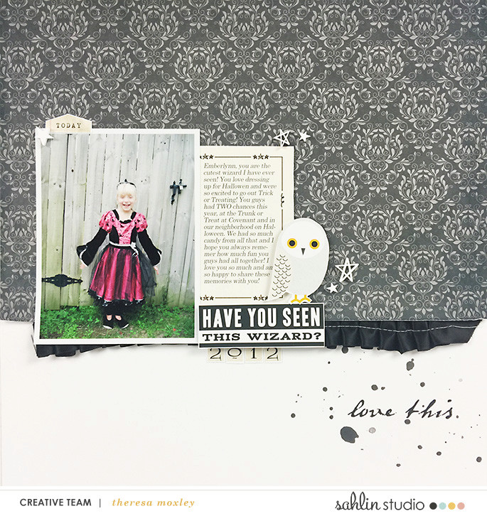 Digital scrapbooking page using Project Mouse (Wizarding) by Britt-ish Designs and Sahlin Studio