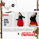 Merry Christmas Memories digital scrapbooking layout using December collection by Sahlin Studio