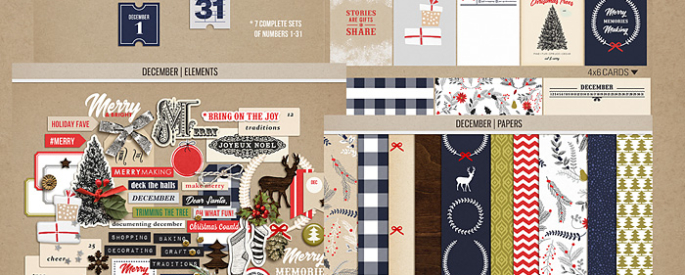 December | BUNDLE by Sahlin Studio - Perfect for Documenting Your December or December Daily album!!