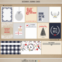 December   Journal Cards by Sahlin Studio - Perfect for Documenting Your December or December Daily album!!