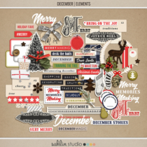 December   Elements by Sahlin Studio - Perfect for Documenting Your December or December Daily album!!
