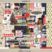 December   Kit by Sahlin Studio - Perfect for Documenting Your December or December Daily album!!