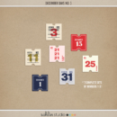 December Days No 3 (Numbers) by Sahlin Studio - Perfect for Documenting Your December or December Daily album!!