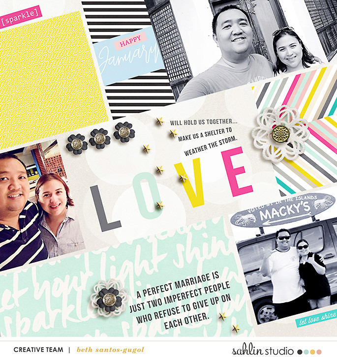 Project Life hybrid page using 4x6 Monthly Cards No.1