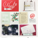Week 37 hybrid project life page using Weekly Journal Calendar Cards by Sahlin Studio
