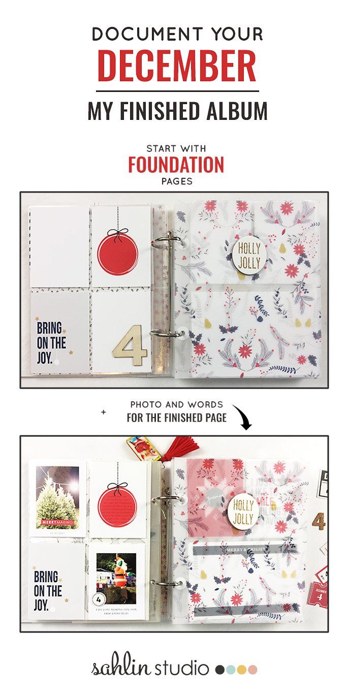 Document Your December - December Daily Project Life | Theresa Moxley Foundation Pages - Completed Album!!