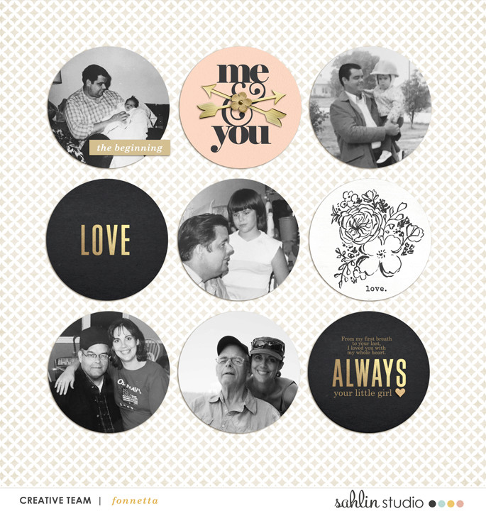 digital scrapbooking layout created by fonnetta featuring Me & You by Sahlin Studio