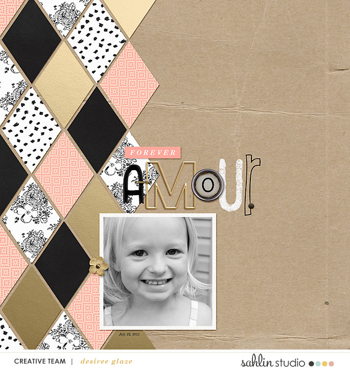 digital scrapbooking layout created by glazefamily3 featuring Me & You by Sahlin Studio