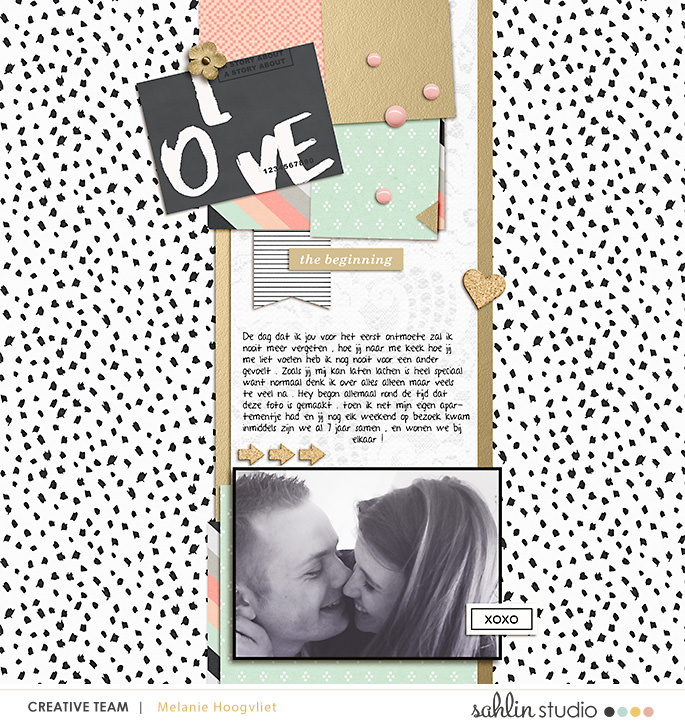 digital scrapbooking layout created by jumbbumble featuring Me & You by Sahlin Studio