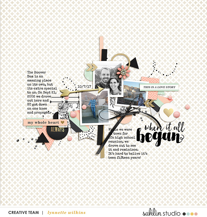 digital scrapbooking layout created by lynnette featuring Me & You by Sahlin Studio