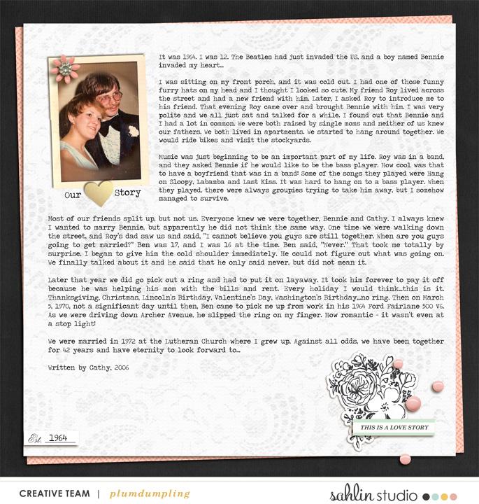 digital scrapbooking layout created by plumdumpling featuring Me & You by Sahlin Studio