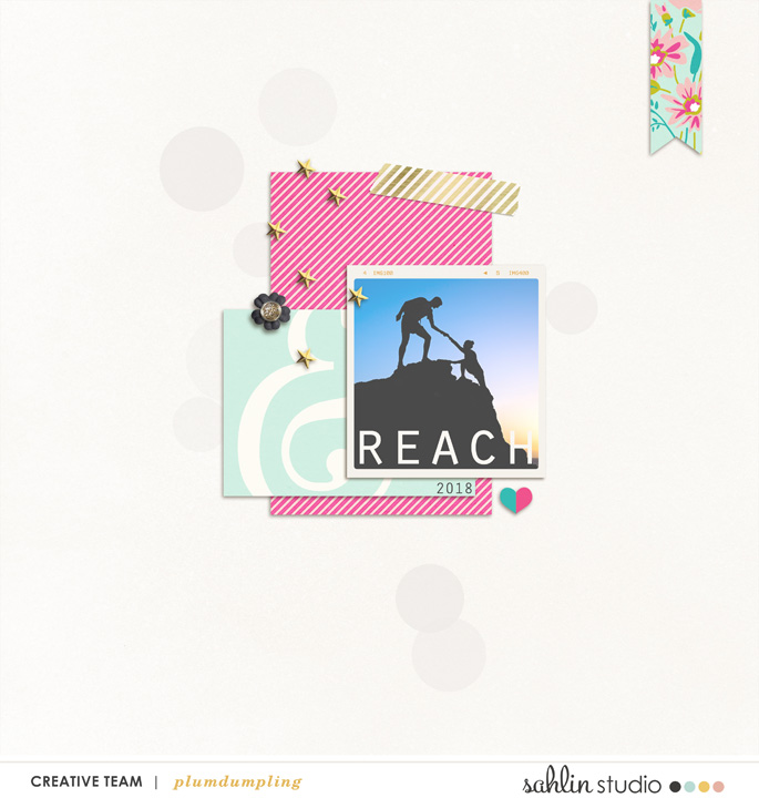 layout created by plumdumpling featuring Shine Bright by Sahlin Studio