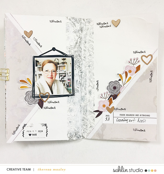Sahlin Studio Creative Team Theresa Moxley | Creating a Hybrid Art Journal Layout!