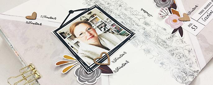 Sahlin Studio Creative Team Theresa Moxley | Creating A Hybrid Art Journal Project!