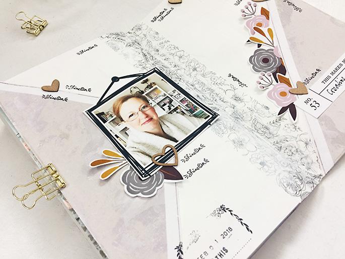 Sahlin Studio Creative Team Theresa Moxley | Creating A Hybrid Art Journal Project!