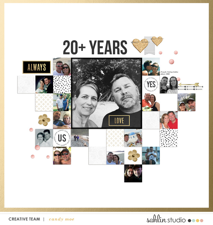 digital scrapbooking layout created by ctmm4 featuring April 2018 FREE Template by Sahlin Studio