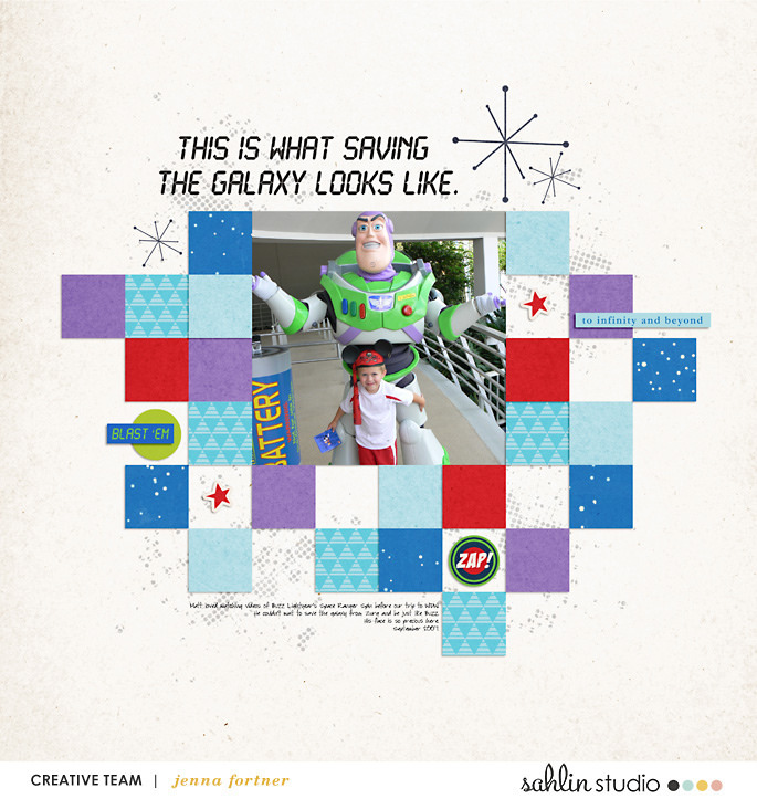 digital scrapbooking layout created by jenna featuring April 2018 FREE Template by Sahlin Studio