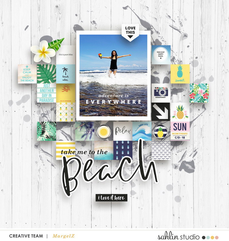 digital scrapbooking layout created by margelz featuring April 2018 FREE Template by Sahlin Studio