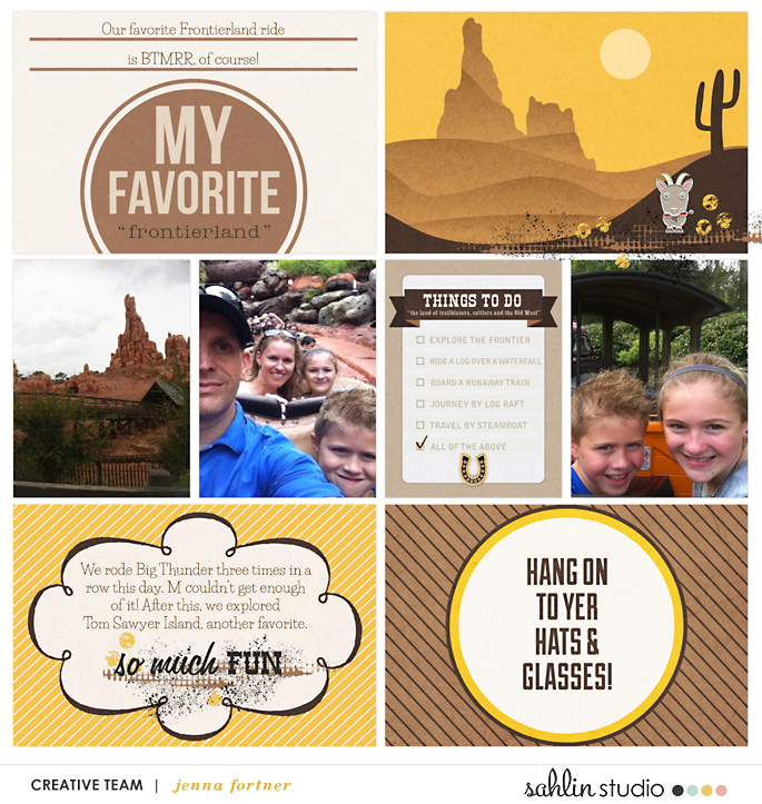 Disney digital project life page Project Mouse (Frontier): Enamel Pins & Artsy by Britt-ish Designs and Sahlin Studio