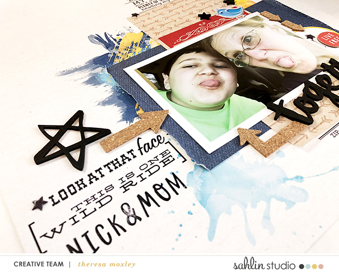 Together hybrid scrapbooking page using Project Mouse (Frontier): Enamel Pins & Artsy by Britt-ish Designs and Sahlin Studio