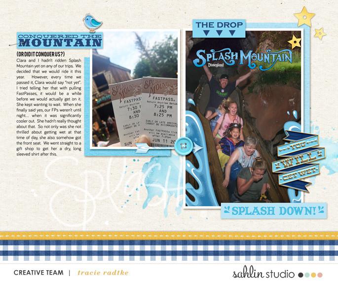 Disney digital scrapbooking page using Project Mouse (Frontier): Enamel Pins & Artsy by Britt-ish Designs and Sahlin Studio