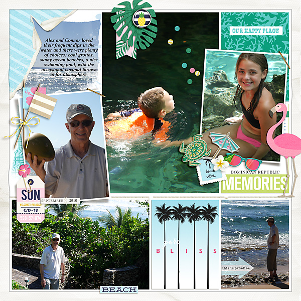 Dominican Republic memories digital scrapbooking page using Project Mouse (Paradise) by Britt-ish Designs and Sahlin Studio