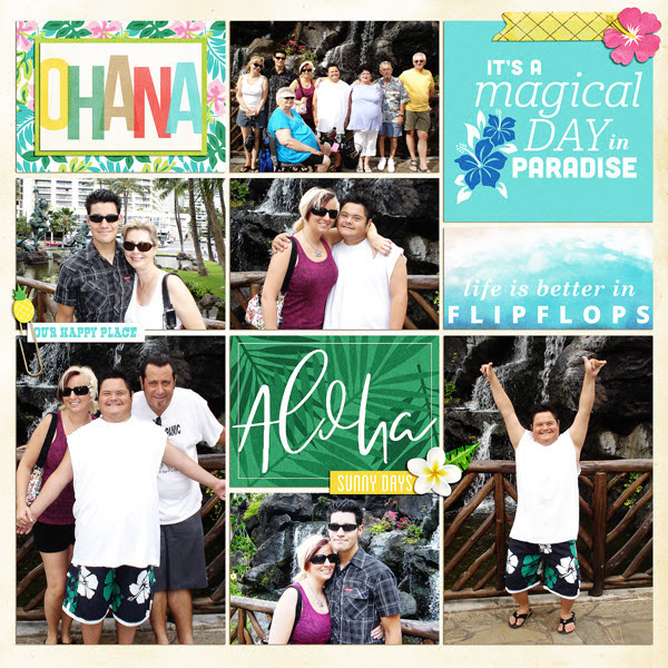Aloha digital project life page using Project Mouse (Paradise) by Britt-ish Designs and Sahlin Studio