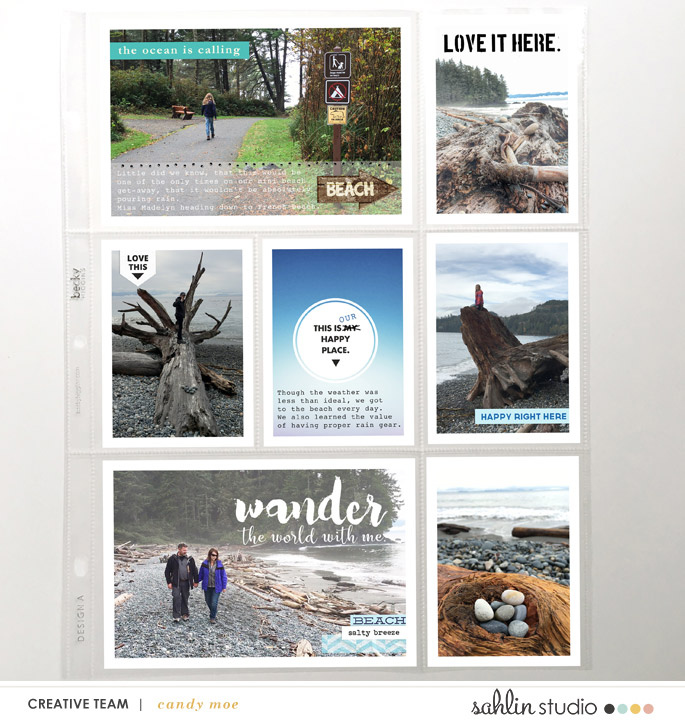 Beach hybrid project life double page using Project Mouse (Paradise) by Britt-ish Designs and Sahlin Studio