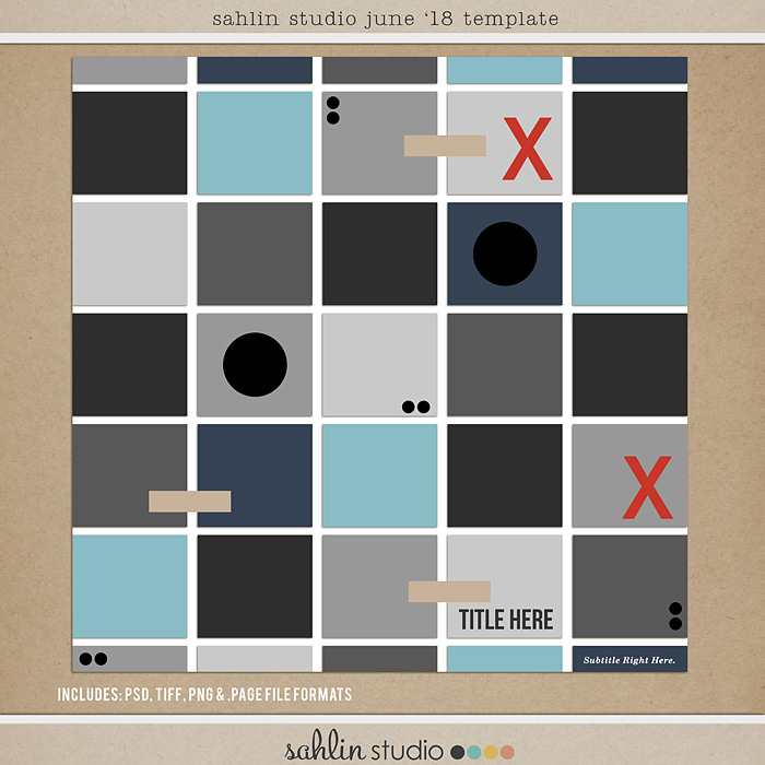 FREE Digital Scrapbooking Template / Sketch – June 2018