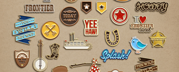 Project Mouse (Fantasy): Enamel Pins by Britt-ish Designs and Sahlin Studio - Reminiscent of the enamel trading pins that we all seem to collect on our backpacks, jackets and lanyards. Perfect for your Disney scrapbooking pages.