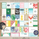 Project Mouse (Paradise): Journal Cards by Britt-ish Designs and Sahlin Studio - Perfect for your Project Life / Project Mouse albums for documenting your Hawaii, cruise or vacation scrapbooking pages.