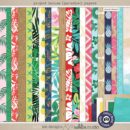 Project Mouse (Paradise): Papers by Britt-ish Designs and Sahlin Studio - Perfect for your Project Life / Project Mouse albums for documenting your Hawaii, cruise or vacation scrapbooking pages.