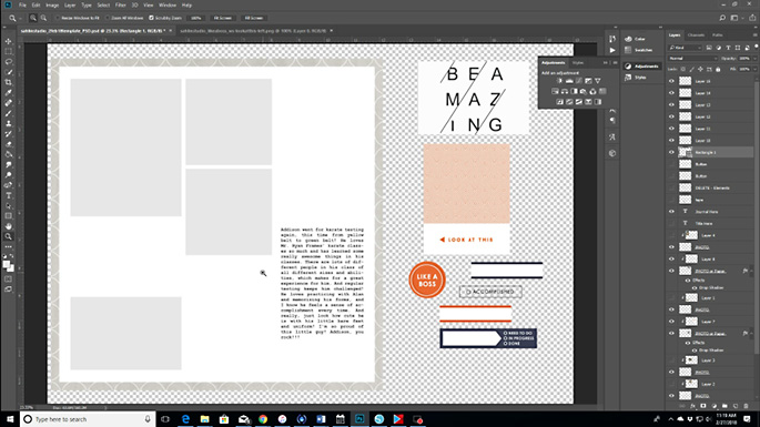 Sahlin Studio Creative Team Theresa Moxley | How To Print Hybrid Layouts (And Save Your Ink)