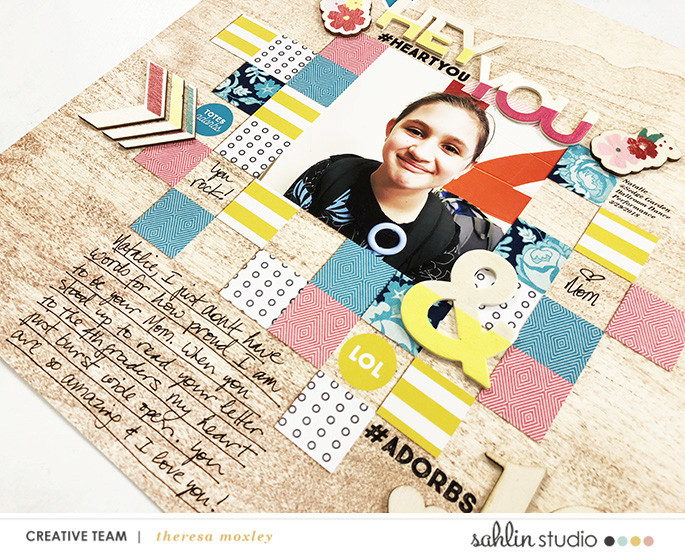 digital scrapbooking layout created by larkindesign featuring April 2018 FREE Template by Sahlin Studio