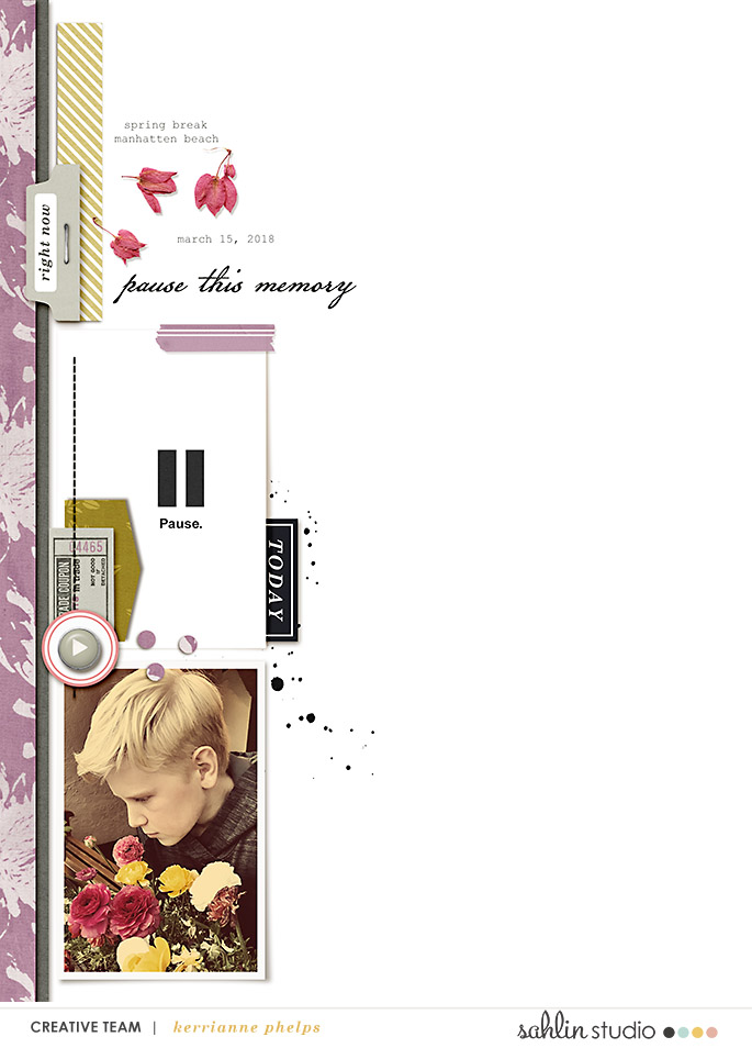 digital scrapbooking layout created by kaphelps featuring May 2018 FREE Template