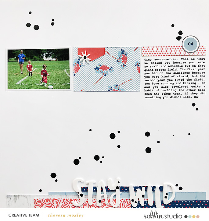 hybrid scrapbooking layout created by theresa moxley featuring May 2018 FREE Template