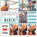 Digital project life page using Project Mouse (Boardwalk): Elements by Britt-ish Designs and Sahlin Studio