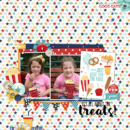 Digital scrapbooking page using Project Mouse (Boardwalk): Elements by Britt-ish Designs and Sahlin Studio