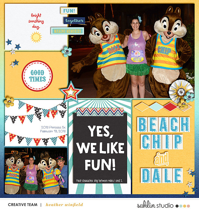 Disney Meet and Greet project life page using Project Mouse (Boardwalk): Elements by Britt-ish Designs and Sahlin Studio