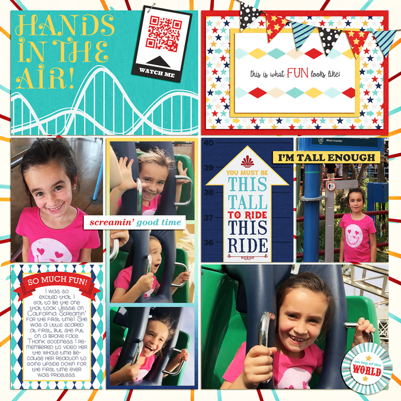Im tall enough digital project life page using Project Mouse (Boardwalk): Elements by Britt-ish Designs and Sahlin Studio